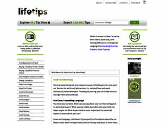 usedcar.lifetips.com screenshot