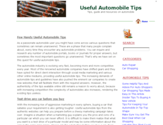 usefulautomobiletips.com screenshot