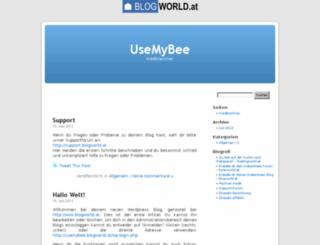 usemybee.blogworld.at screenshot