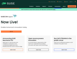 users.suse.com screenshot