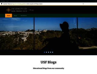 usfblogs.usfca.edu screenshot