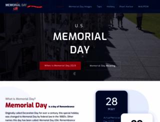 usmemorialday.org screenshot