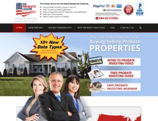usprobateleads.com screenshot