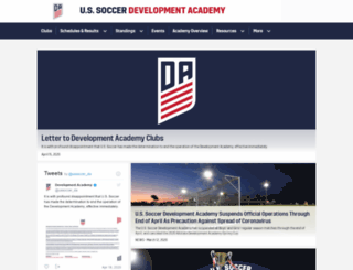 ussoccerda.com screenshot