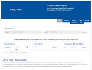 ustid-nr.de screenshot