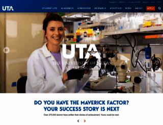 uta.edu screenshot