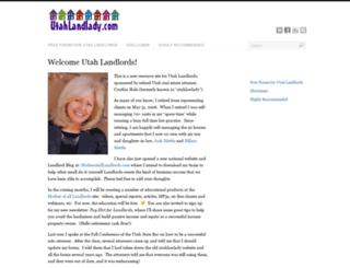 utahlandlady.com screenshot