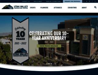 utahvalleyconventioncenter.com screenshot