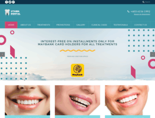 utamadental.com screenshot