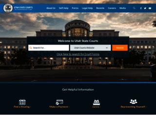 utcourts.gov screenshot