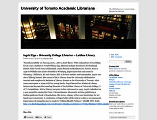 utlibrarians.wordpress.com screenshot