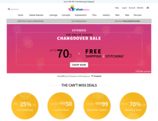 utsavsarees.com screenshot