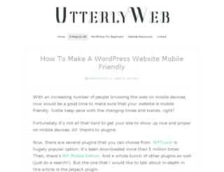 utterlyweb.com screenshot