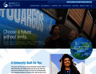uwf.edu screenshot