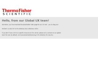 ux.thermofisher.com screenshot