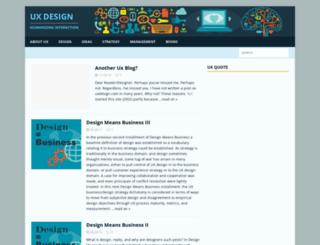 uxdesign.com screenshot