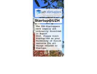 uzh-startuppers.ch screenshot