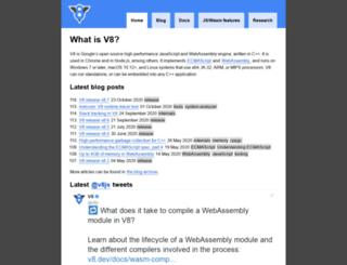 v8project.blogspot.de screenshot