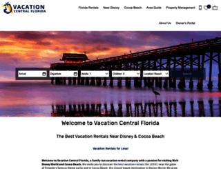 vacationcentralflorida.com screenshot