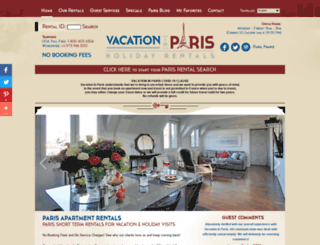 vacationinparis.com screenshot
