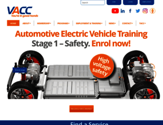 vacc.com.au screenshot