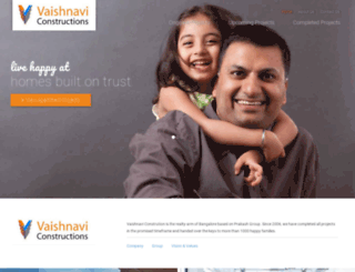 vaishnaviconstructions.com screenshot