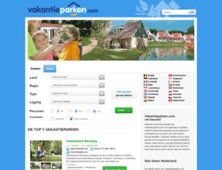 vakantieparken.com screenshot