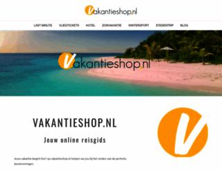 vakantieshop.nl screenshot