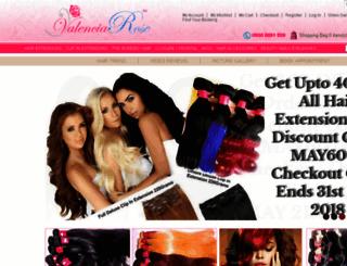 valenciarosehair.com screenshot
