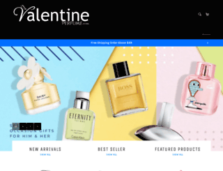 valentineperfume.com screenshot