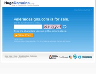 valeriadesigns.com screenshot