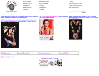 valerieg.com screenshot