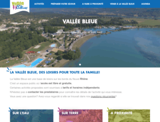 valleebleue.org screenshot