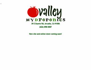 valley-hydroponics.com screenshot