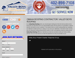 valleyboysroofing.com screenshot