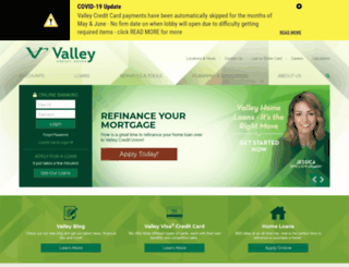 valleyfcuhb.com screenshot
