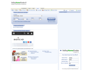 valleyhomefinder.com screenshot