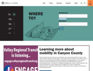 valleyride.com screenshot