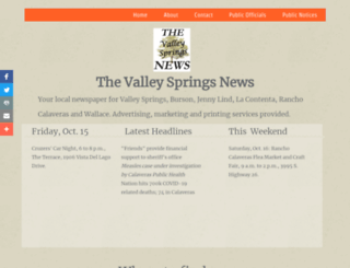 valleyspringsnews.com screenshot