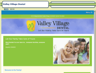 valleyvillagedentist.mydentalvisit.com screenshot