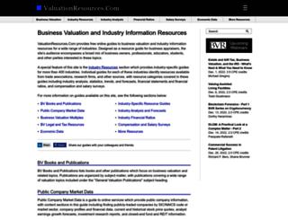 valuationresources.com screenshot