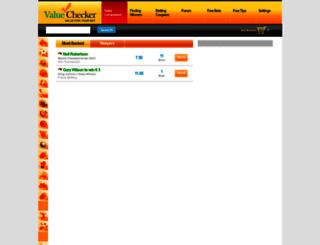 valuechecker.co.uk screenshot