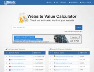 valuechecksite.com screenshot