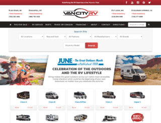 vancityrv.com screenshot