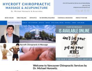 vancouverchiropractic.net screenshot