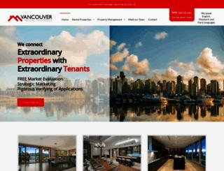 vancouverrentalproperties.com screenshot
