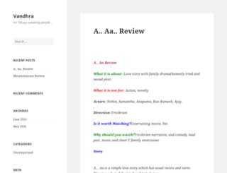 vandhra.com screenshot