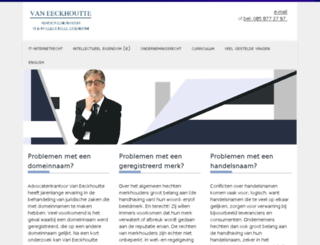 vaneeckhoutteadvocaten.nl screenshot