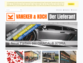 vaneker-koch.de screenshot