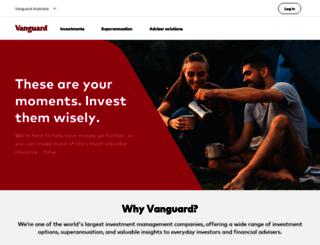 vanguardinvestments.com.au screenshot